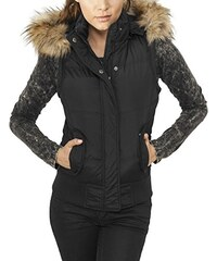 Urban Classics Damen Sport Weste Ladies Hooded Fur Vest