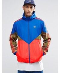 adidas Originals - WAY8171 - Windjacke mit Tarnmuster - Blau