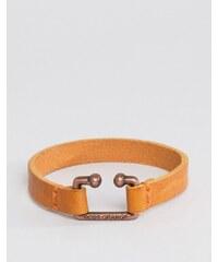Boss Orange - Morris - Bracelet en cuir - Fauve - Fauve