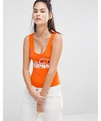Ellesse - Justaucorps à grand décolleté dos et logo sur le devant - Orange