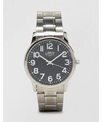 Limit - Silberfarbene Armbanduhr mit schwarzem Zifferblatt, exklusiv bei ASOS - Silber