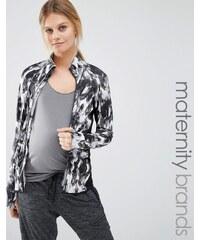 Mama.licious Mamalicious - Bedruckte Lounge-Jacke mit Reißverschluss - Mehrfarbig