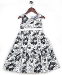 Joe and Ella Fashion Dívčí šaty Amy - černo-bílé