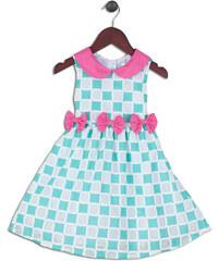 Joe and Ella Fashion Dívčí šaty Cynthia - zeleno-růžové