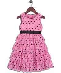 Joe and Ella Fashion Dívčí šaty Rose puntíkované - růžové