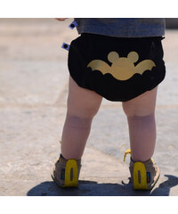 Lamama Kalhotky na plenu Batman 6-12 měsíců (74/80 cm) - černé