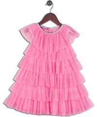 Joe and Ella Fashion Dívčí šaty Ophelia s kanýrky - růžové