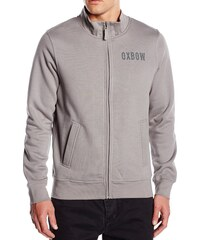 Oxbow Sweat-shirt Sweat Zippee Col Montant Tersen Gris Moyen -