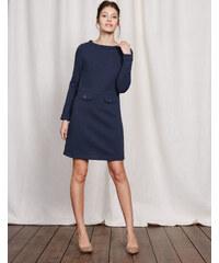 Jacquardkleid im Sechziger-Stil Dunkelblau Damen Boden
