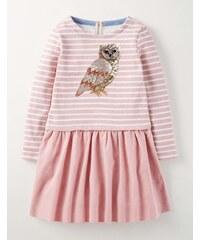 Kleid mit Paillettenmotiv Pink Mädchen Boden