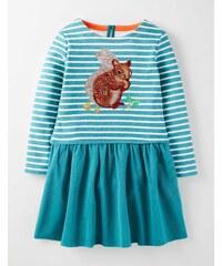 Kleid mit Paillettenmotiv Blau Mädchen Boden