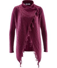 bpc bonprix collection Fransen-Strickjacke, Langarm in lila für Damen von bonprix