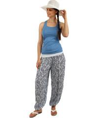 TopMode Vzorované harémové kalhoty bílá