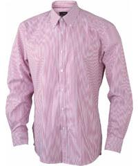 Pánská proužkovaná košile - Bílo červená S