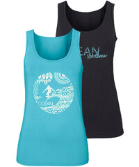 OCEAN SPORTSWEAR Top Ocean Sportswear, 2 ks černá/tyrkysová - Normální délka (N)