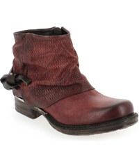 Boots Femme AirStep - AS98 en Cuir Rouge