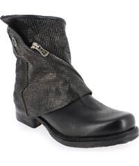 Boots Femme AirStep - AS98 en Cuir Noir