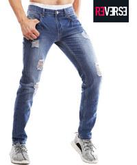 Re-Verse Slim Fit-Jeans im Destroyed-Look - W30