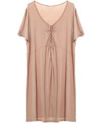 Daxon Kleid mit fließendem Schnitt - beige