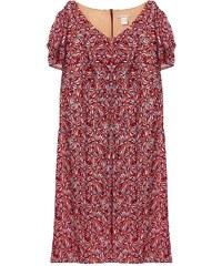 Daxon Kleid mit fließendem Schnitt - gemustert