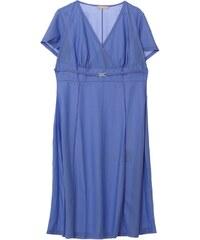 Daxon Kleid mit fließendem Schnitt - klassischer blauton