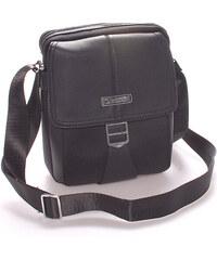 Pánská elegantní taška přes rameno černá - Bellugio Valentino černá