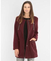 Manteau drap de laine grenat, Femme, Taille 34 -PIMKIE- MODE FEMME