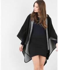 Poncho à capuche noir, Femme, Taille 00 -PIMKIE- MODE FEMME