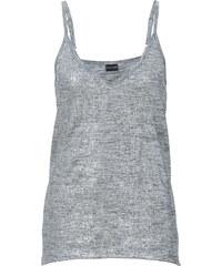 BODYFLIRT Top métallisé gris femme - bonprix