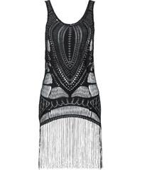 RAINBOW Top en dentelle à franges noir sans manches femme - bonprix