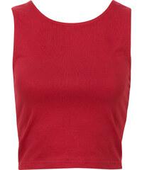 RAINBOW Top rouge sans manches femme - bonprix