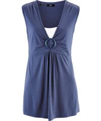 bpc bonprix collection Top 2 en 1 bleu sans manches femme - bonprix