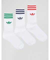 adidas Originals - Socken im 3er-Set in Weiß AY8707 - Weiß