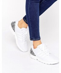 adidas Originals - Zx Flux - Baskets à talons imprimés - Blanc - Blanc