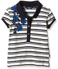 GANT Mädchen Poloshirt Sc. Striped Blue Flower Ss Pique