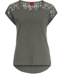 Livre Damen T-Shirt körperbetont grau aus Baumwolle