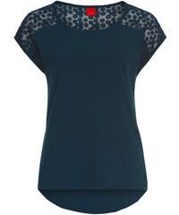Livre Damen T-Shirt körperbetont blau aus Baumwolle