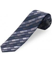 COOL CODE Herren Krawatte Breite 6 cm grau aus echter Seide