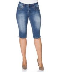 Große Größen: sheego Denim Schmale Stretch-Jeans-Capri, blue denim, Gr.40-58