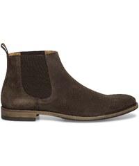 Eram Chelsea boots croûte de cuir marron