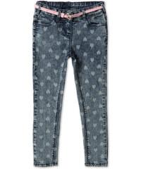 C&A Skinny Jeans mit Gürtel in Blau