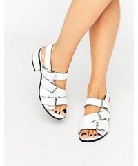 Eeight - Lima - Sandalen mit weißer Schnalle - Weiß
