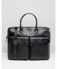 Royal RepubliQ - Sac en cuir à poche double - Noir - Noir