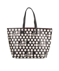 Love Moschino Sacs à Bandoulière, Shopping Bag Double PVC Bianco Nero en blanc, noir