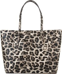 Guess Sacs portés main, Delaney Medium Classic Tote Leopard en marron, beige, noir