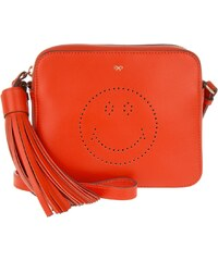 Anya Hindmarch Sacs à Bandoulière, Smiley Crossbody Flame Red Circus en rouge
