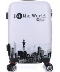 Módní Palubní kufřík Or&Mi 4 kolečka Černobílá
