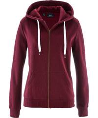 bpc bonprix collection Gilet sweat-shirt rouge manches longues femme - bonprix