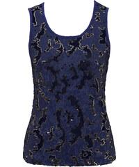 RAINBOW Top à paillettes bleu sans manches femme - bonprix