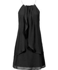 BODYFLIRT Chiffonkleid mit Collier ohne Ärmel in schwarz von bonprix